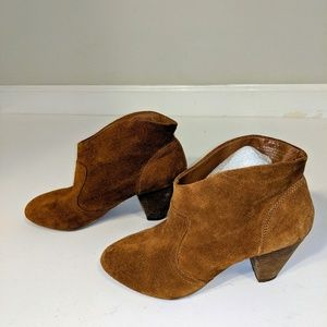 Steve Madden Leather Suede P-Phillip Booties